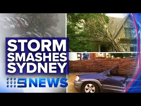 Houses, cars destroyed as snap storm smashes Sydney | Nine News Australia