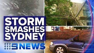 Houses, Cars Destroyed As Snap Storm Smashes Sydney   Nine News Australia