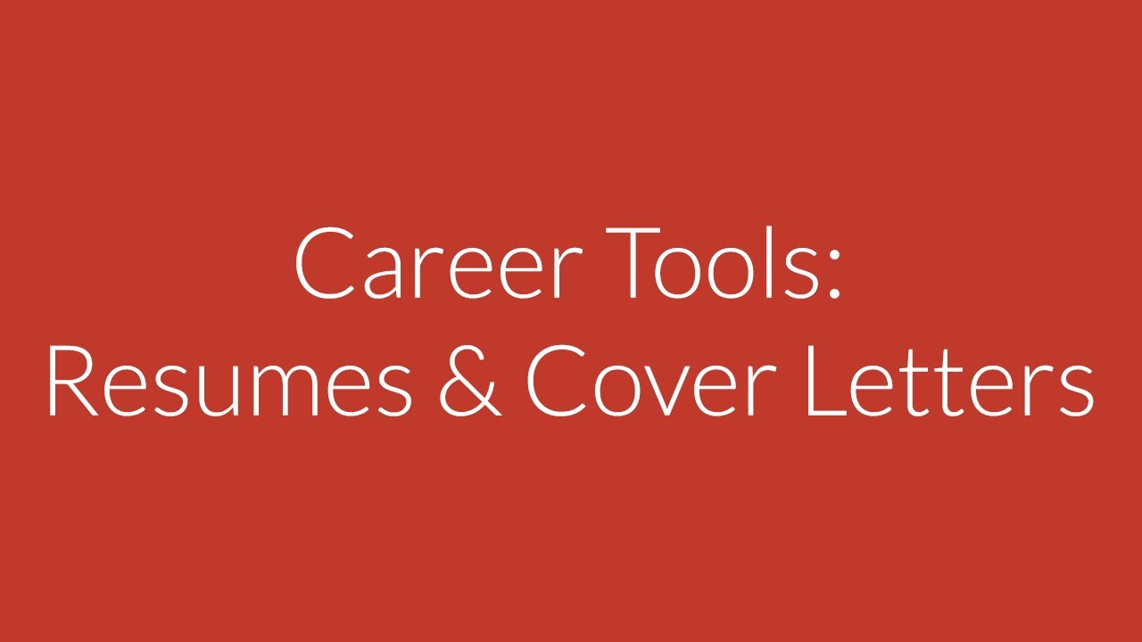 CPR My Career – Career Tools: Resumes & Cover Letters - YouTube