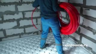 Монтаж теплого водяного пола на маты вместо арматурной сетки
