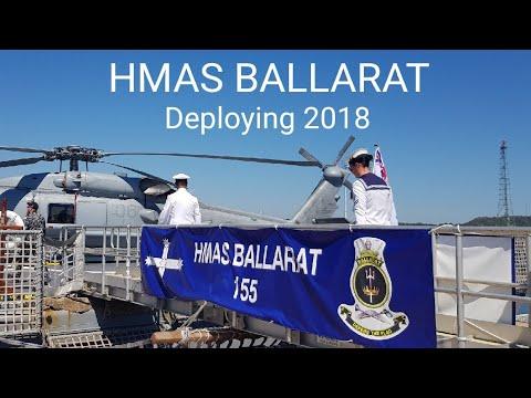 HMAS BALLARAT Deploying from Perth 28th October 2018