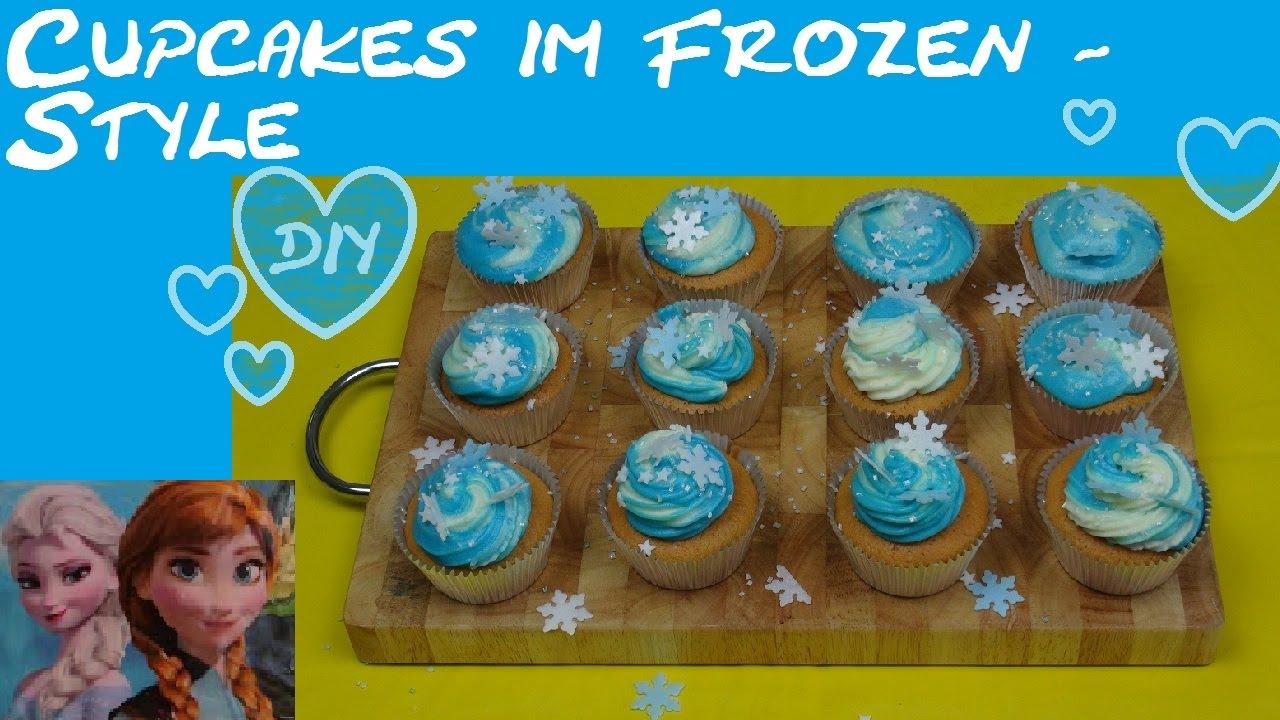 FrozenCupcakes Disney FrozenStyle Anna Elsa zweifarbiges