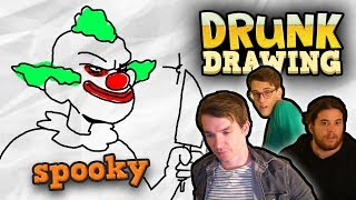 DRUNK DRAWING SCARY STUFF (Halloween Special)
