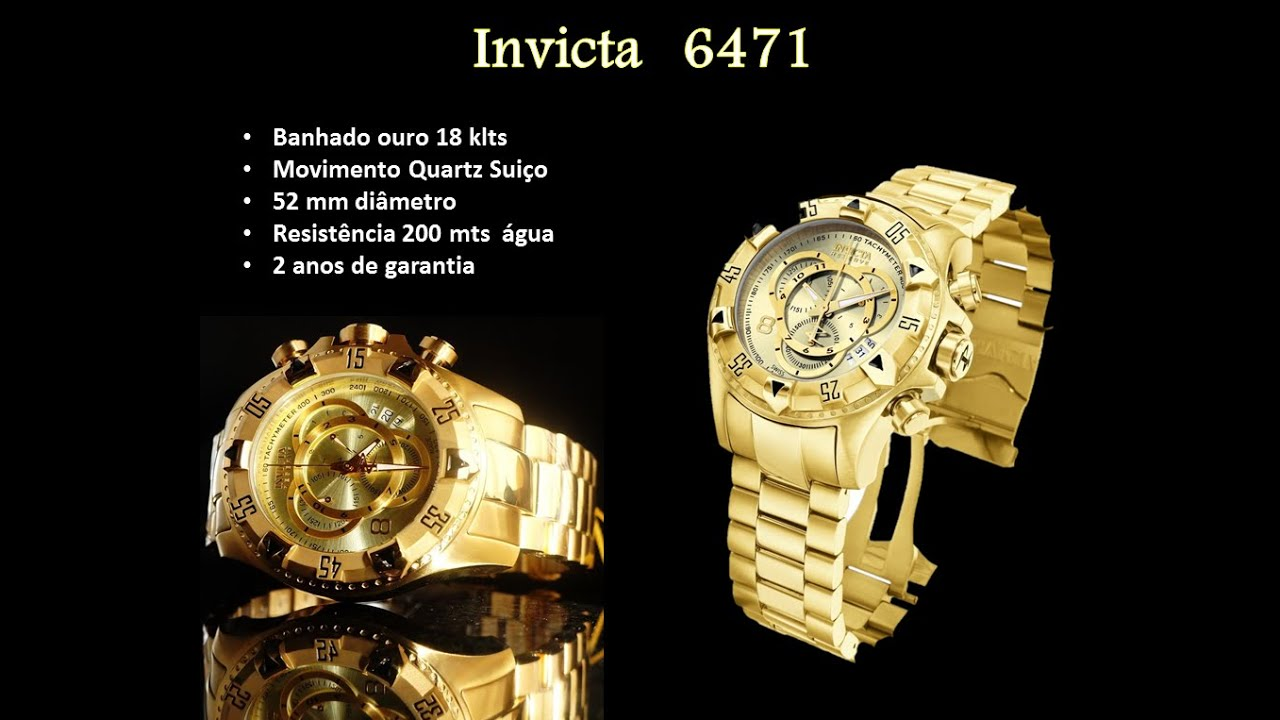 Invicta 6471 gold