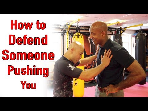 How to defend someone pushing you - wing chun