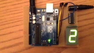 Arduino 1 Digit LED display 74HC164