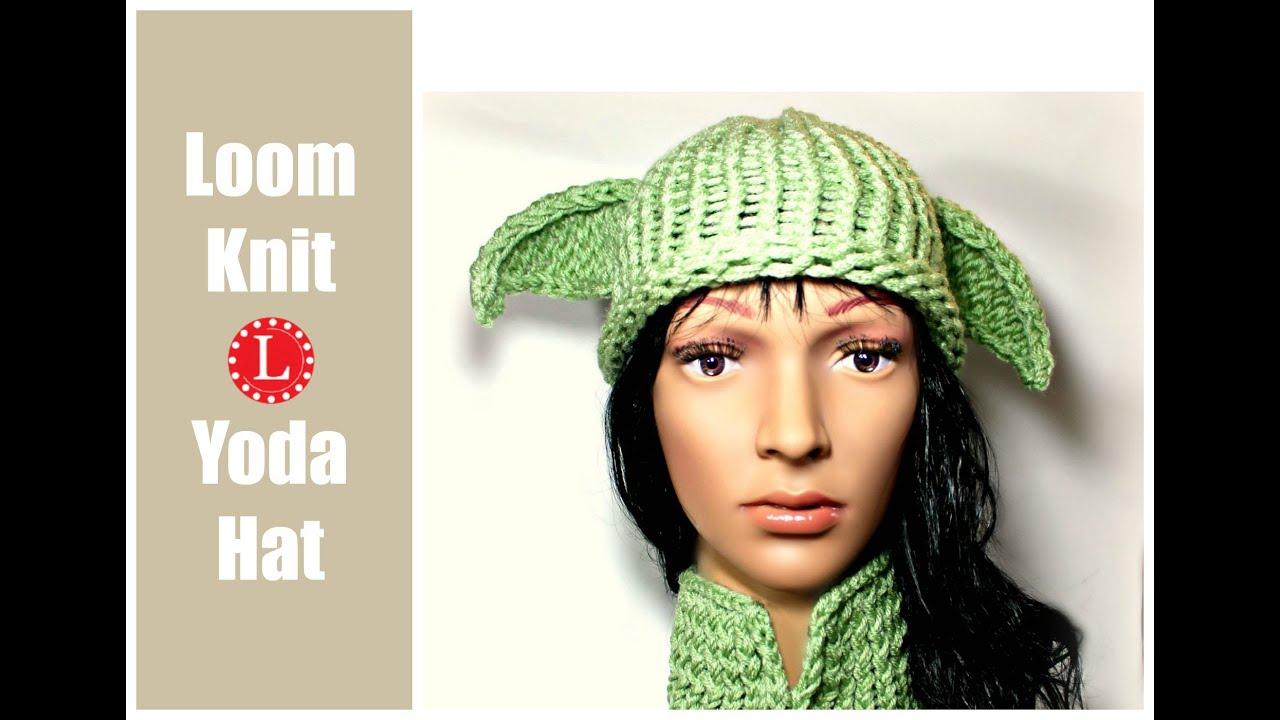LOOM KNIT HAT: Star Wars Yoda Hat Easy e-Wrap Knit Stitch Pattern ...