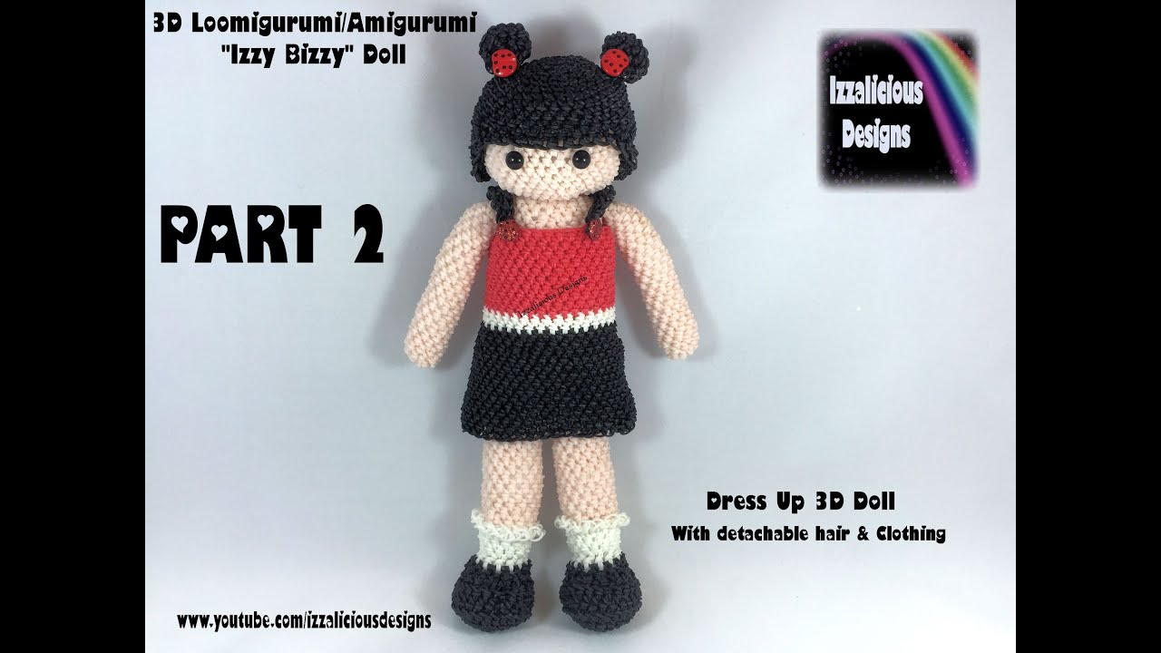 Amigurumi Doll Arms : Rainbow loom loomigurumi izzy bizzy dress up doll part torso