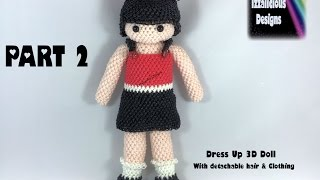 Rainbow Loom Loomigurumi Izzy Bizzy Dress Up Doll Part 2 - TORSO & ARMS - hook only (loomless)