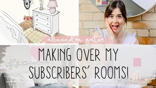 MAKING OVER 5 SUBSCRIBERS' ROOMS | YOUR DECOR QUESTIONS ANSWERED!