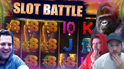 ONLINE SLOTS BATTLE!! Josh vs Jamie vs Scotty!! Euphoria, Dragon Horn, Harlequin Carnival And More!!