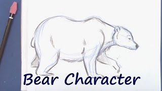 How to Draw a Bear Walking