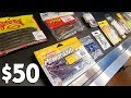 $50 FISHING GEAR Shopping! (Early Fall Baits)