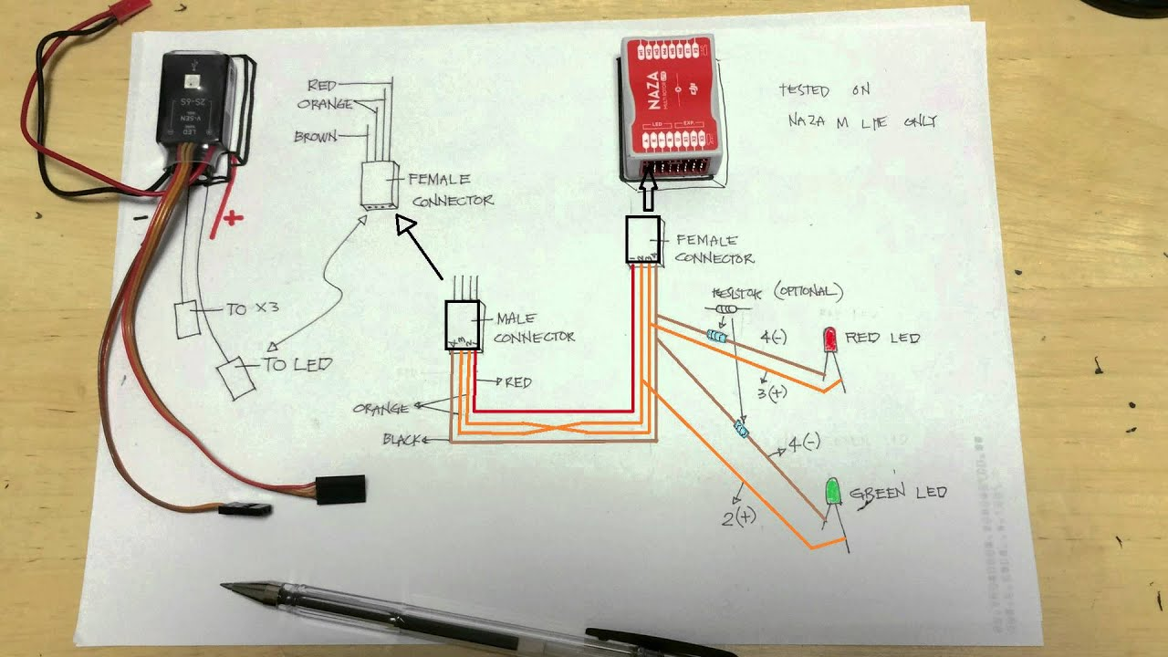 maxresdefault naza m lite led mud youtube naza lite wiring diagram at cos-gaming.co