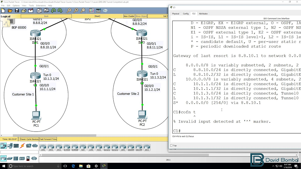 Cisco CCNA Packet Tracer Ultimate labs: GRE Tunneling  Answers Part 2