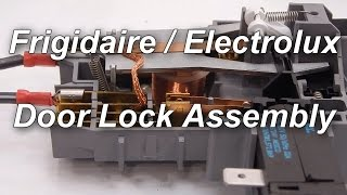 frigidaire electrolux front load washer not spinning door lock assembly