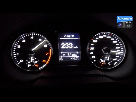 2017 Audi S1 (231hp) - 0-240 km/h acceleration (60FPS)