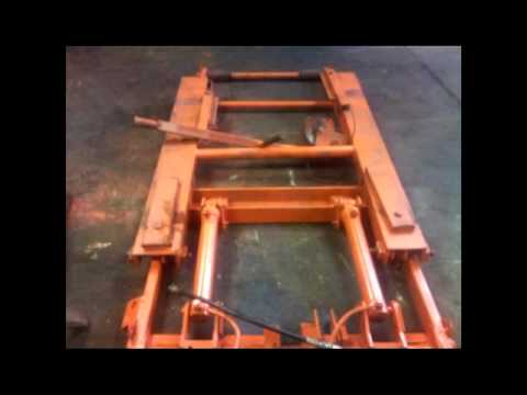 Homemade Portable Hydraulic Vehicle Scissor Lift