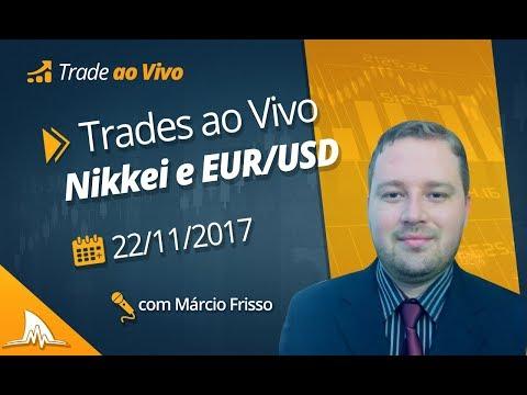 [Trade ao vivo 2017] Nikkei e EUR/USD - 22/11/17