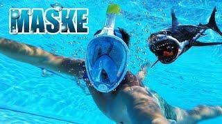 Unter Wasser atmen und reden möglich? Tauchermaske / Schnorchelmaske Review - Test [Deutsch/German]