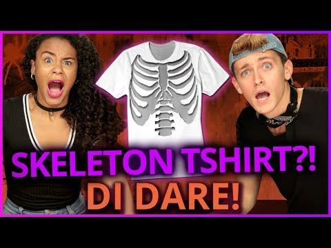 DIY SKELETON COSTUME?! Di Dare w/ Damon & Jo