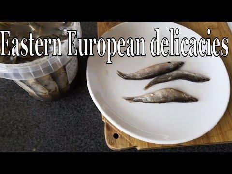Eastern European Delicacies. Salted Sprats.
