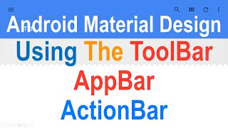 3: Android ToolBar Tutorial Slidenerd