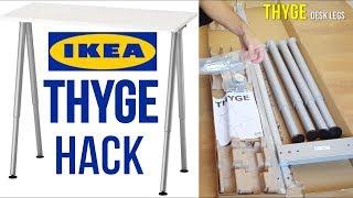 IKEA Desk Assembly Hack - THYGE Desk legs +  LINMON Table Top