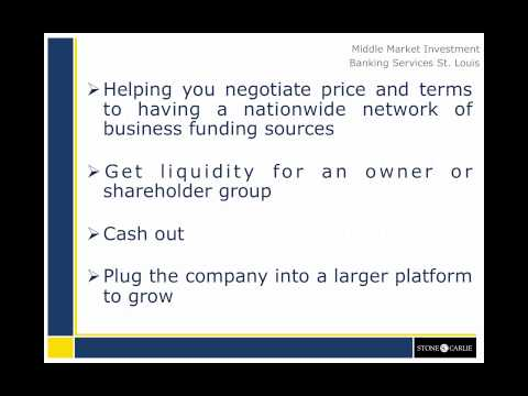 Mergers and Acquisitions Services: Middle Market Investment Bank St  Louis