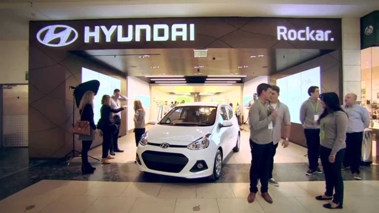 Rockar And Hyundai Open Groundbreaking Digital Car Showroom YouTube - Hyundai car show