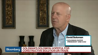 Goldman's Solomon on Trade, China Business, Succession