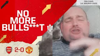 NO MORE BULLS***! Arsenal 2-0 Manchester United Andy Tate Fancam