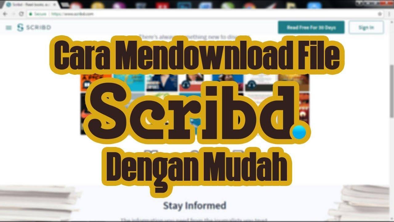 Cara mendownload file di Scribd dengan mudah - YouTube