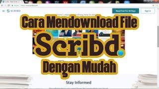 Download lagu Cara mendownload file di Scribd dengan mudah