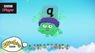 "Learn letter ""q"" with the Alphablocks Magic Words 