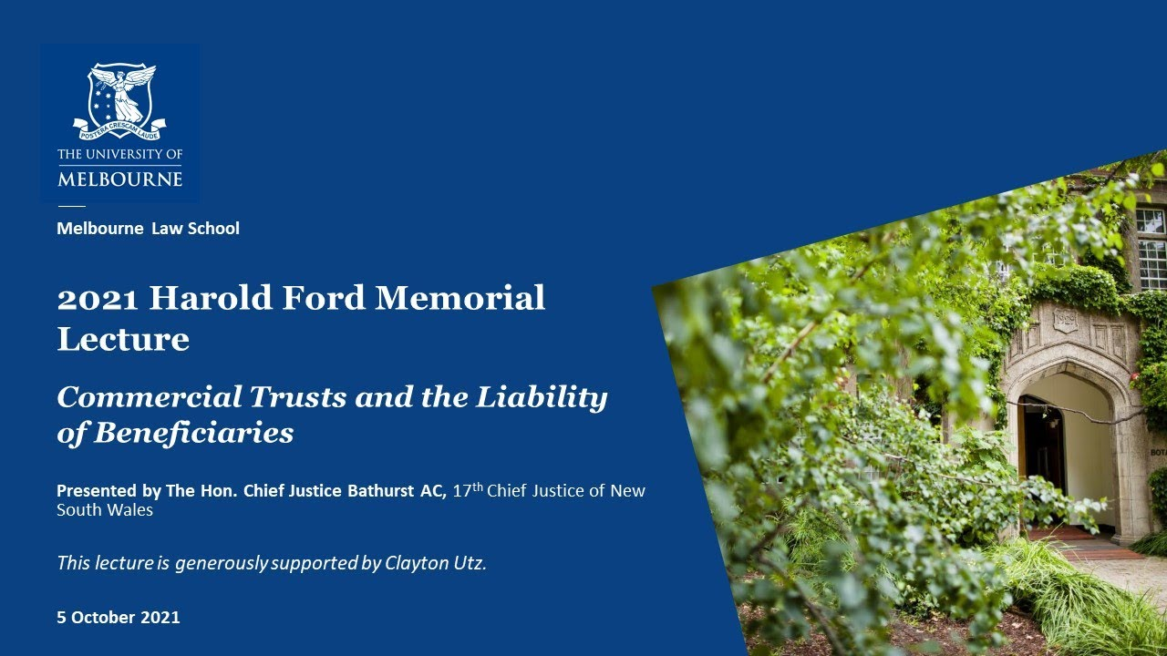 Download 2021 Harold Ford Memorial Lecture: Commercial Trusts and the Liability of Beneficiaries