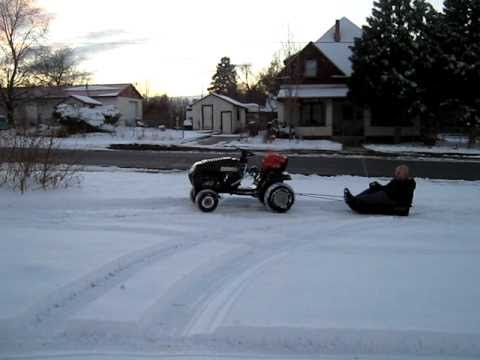 pulling myself in sled behind rc riding lawnmower YouTube – Garden Tractor Pulling Sled Plans