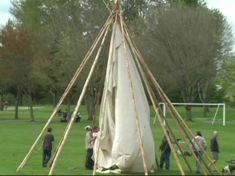 how to put up a teepee youtube. Black Bedroom Furniture Sets. Home Design Ideas