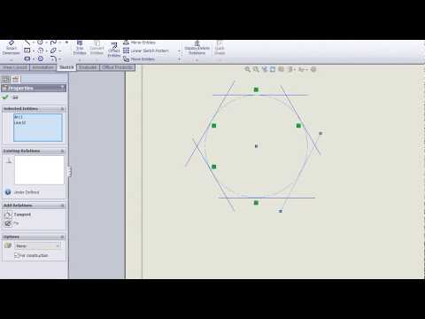 Drawing Hexagon circumscribed in a circle