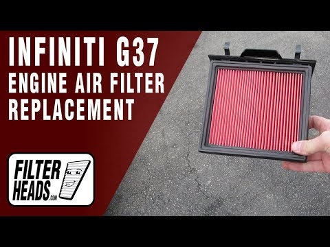 How to Replace Engine Air Filter 2013 Infiniti G37 V6 3.7L