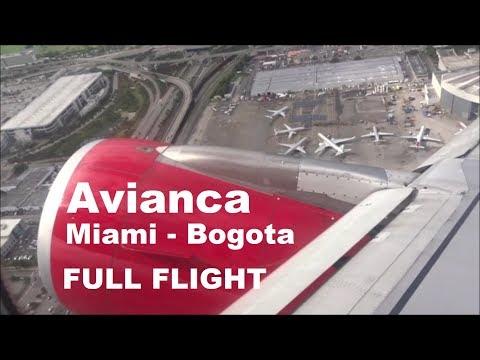 MIAMI - BOGOTA AVIANCA FULL FLIGHT