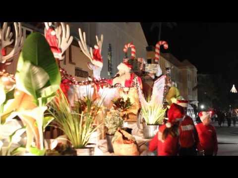 Santa At Santa Parade Hamilton Bermuda November 27 2011