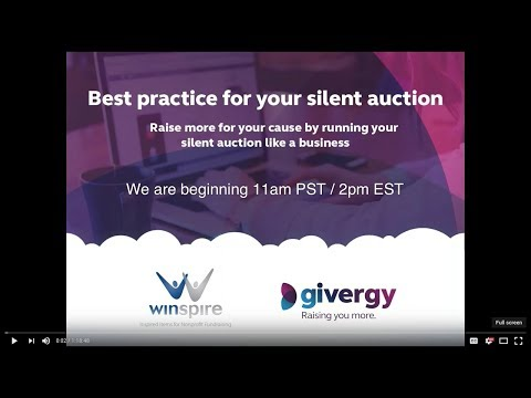 WEBINAR Best Practices for your Silent Auction