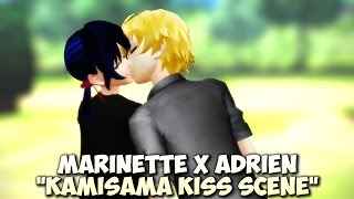 "MMD MLB ""Kamisama Kiss Scene"" - Adrien kisses Marinette - Miraculous Ladybug and Cat Noir meme"