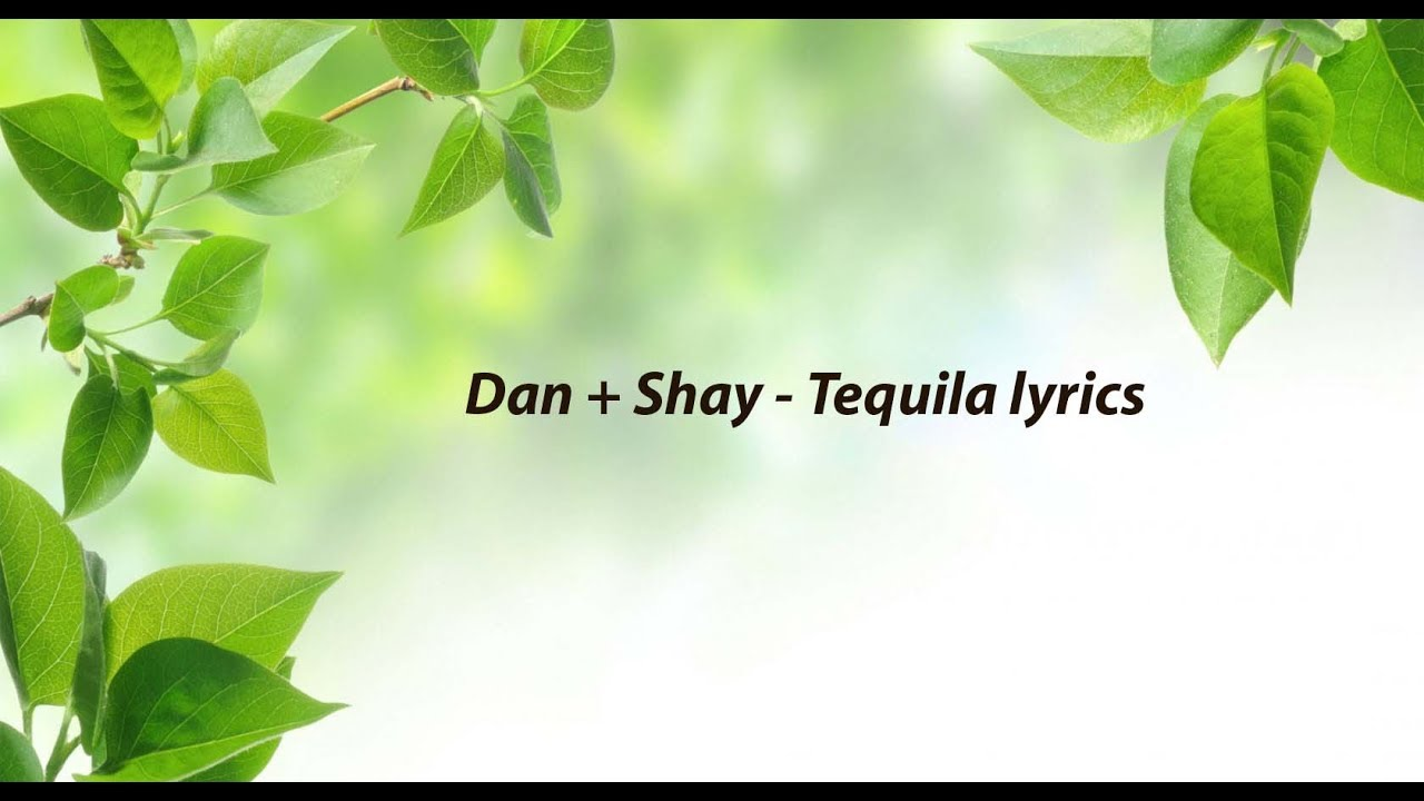 Dan  Shay Tequila lyrics  YouTube