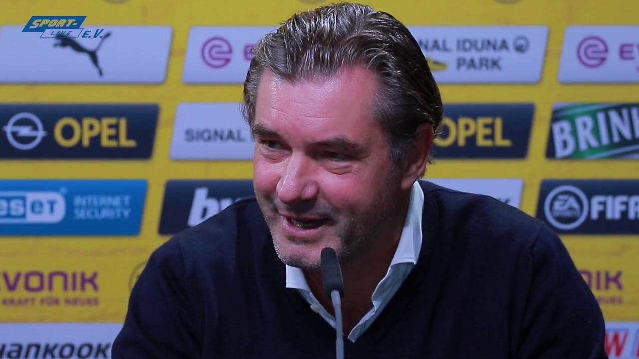 Pressekonferenz mit Lucien Favre und Michael Zorc vor dem Spiel gegen Hertha BSC