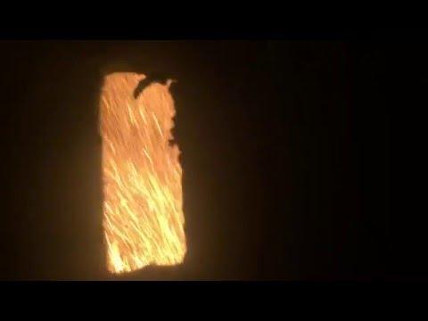 CWS burning process in a coal boiler