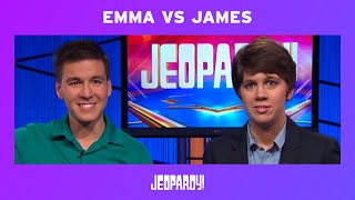 Emma Boettcher Defeats James Holzhauer | JEOPARDY!