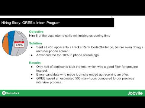 How GREE maximized tech recruiting with HackerRank & Jobvite