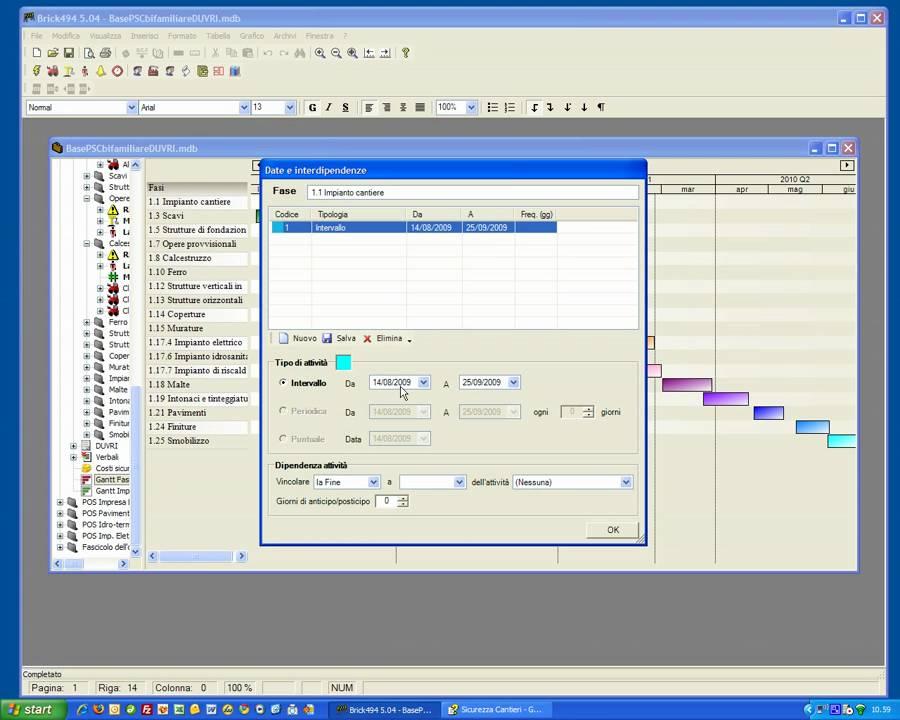 Gantt - Brick494: Cronoprogramma Lavori - YouTube